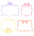 frames with bows vector image vector image