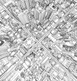 futuristic city wireframe vector image vector image