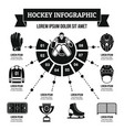 hockey infographic concept simple style vector image vector image