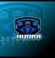 hydra esport mascot logo design vector image vector image