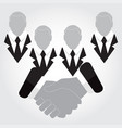 icons businessmen shaking hands vector image