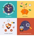 Icons for time is money vector image