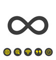 infinity icon on white background vector image vector image