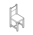 isometric chair vector image vector image