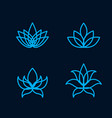 Lotus flower icon set