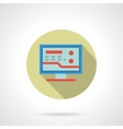 Medicine online flat color design icon vector image vector image
