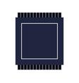 micro chip icon vector image