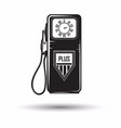 monochrome petrol station icon vector image vector image