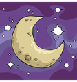 moon and stars background vector image