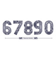 numbers polynesian style in a set 67890 vector image vector image