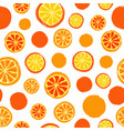 oranges background painted pattern vector image vector image