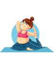 Plus Size Girl in Yoga Pose vector image vector image