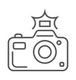professional photo camera linear icon vector image vector image