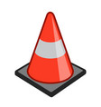 safety cone pylon icon simple cartoon vector image vector image
