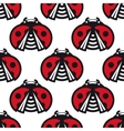 seamless pattern little spotted red ladybugs vector image vector image