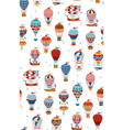 Seamless pattern with hot air balloons isolated on