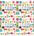 Seamless pattern with kitchen utensils home