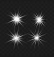 set glow white vector image