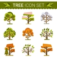 Set of different trees rocks grass Sprites for vector image