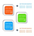 set of infographic buttons vector image vector image