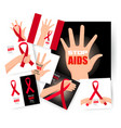 set world aids day 1st december posters vector image vector image