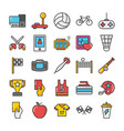 sports and games flat icons set 3 vector image