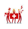 swiss flag switzerland people vector image vector image