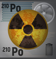 the radioactive isotope polonium 210 vector image vector image