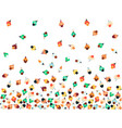 top view at crowd people men and women vector image vector image
