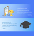 university and academic education internet page vector image vector image