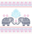 vintage graphic indian lotus ethnic vector image vector image