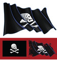 waving jolly roger of henry every vector image