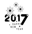 Happy new year 2017 theme vector image