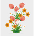 Flowers design vector image