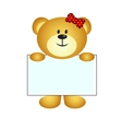 Bear with white board vector image