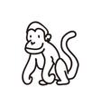 monkey con Sketch design graphic vector image