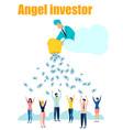 angel investor flat in minimalist style cartoon vector image