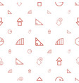 angle icons pattern seamless white background vector image vector image