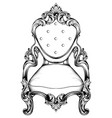 baroque chair with luxurious ornaments vector image vector image