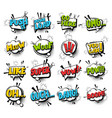 big set comic text speech bubble phrase vector image vector image