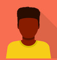 black man icon flat style vector image