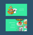 business card template for restaurant or vector image