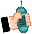 Business Hand With Cell Phone vector image vector image