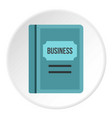 Business plan icon circle vector image