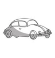 car beetle isolated icon vector image