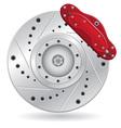 car brake caliper vector image vector image