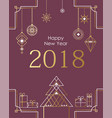 christmas and new year background holiday card vector image