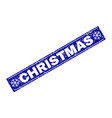christmas grunge rectangle stamp seal with vector image vector image