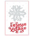 christmas scandinavian greeting card with enjoy vector image vector image