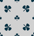 Clover sign Seamless pattern with geometric vector image